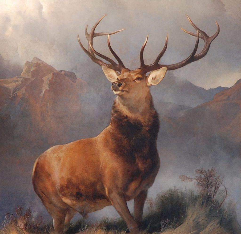 Det ikoniske maleri af den klassiske skotske kronhjort er malet af Sir Edmin Landseer i 1851